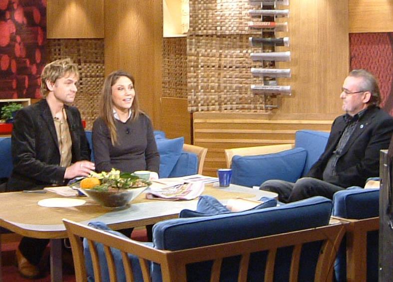 Calle Hagman gästar TV4 och Morgonsoffan